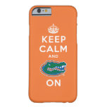 Keep Calm and Gator On - Orange Barely There iPhone 6 Case