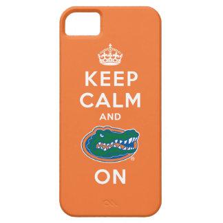 Keep Calm and Gator On - Orange iPhone 5 Cover