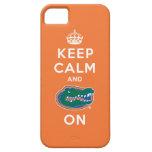 Keep Calm and Gator On - Orange iPhone 5 Case
