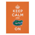 Keep Calm and Gator On - Orange Poster