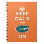 Keep Calm and Gator On - Orange Spiral Notebook