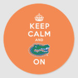 Keep Calm and Gator On - Orange Sticker