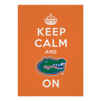 Keep Calm and Gator On Poster