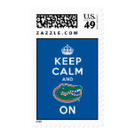 Keep Calm and Gator On Stamp