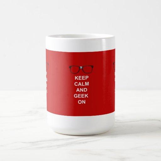Keep Calm And Geek On Coffee Mug
