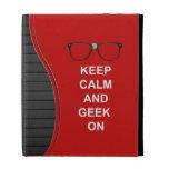 Keep Calm And Geek On iPad Case