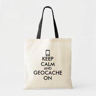 Keep Calm and Geocache On GPS Geocaching Custom Bag