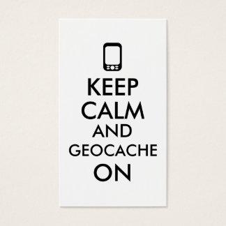 Keep Calm and Geocache On GPS Geocaching Custom Business Card
