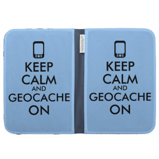 Keep Calm and Geocache On GPS Geocaching Custom Kindle 3 Covers