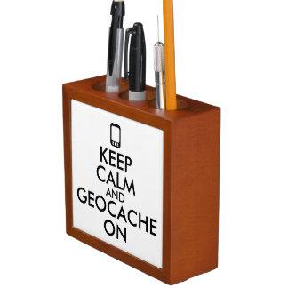 Keep Calm and Geocache On GPS Geocaching Custom Pencil Holder