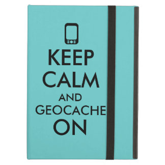 Keep Calm and Geocache On GPS Geocaching Custom iPad Air Cases