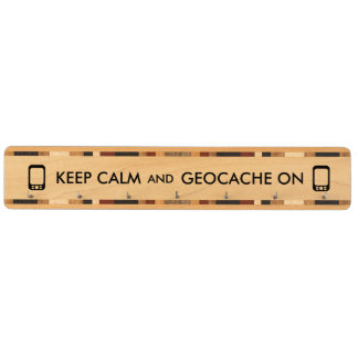 Keep Calm and Geocache On GPS Geocaching Custom Key Rack