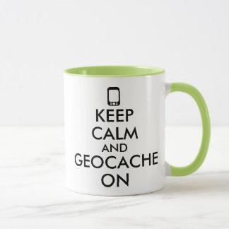 Keep Calm and Geocache On GPS Geocaching Custom Mug