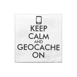 Keep Calm and Geocache On GPS Geocaching Custom Napkin