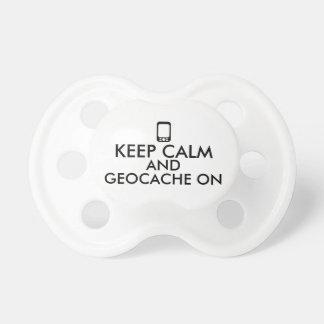 Keep Calm and Geocache On GPS Geocaching Custom BooginHead Pacifier