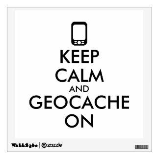 Keep Calm and Geocache On GPS Geocaching Custom Wall Sticker