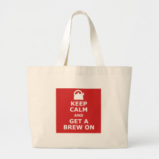 Keep calm and get a brew on canvas bag