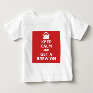 Keep calm and get a brew on t-shirt