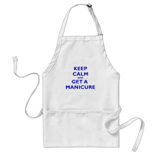 Keep Calm and Get a Manicure Adult Apron