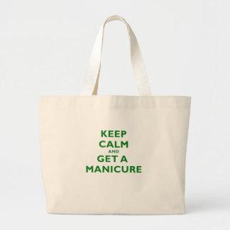 Keep Calm and Get a Manicure Bag