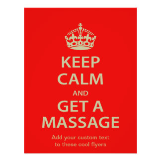 Keep Calm and Get a Massage Flyer