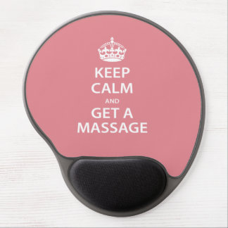 Keep Calm and Get a Massage Gel Mouse Pad