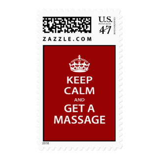 Keep Calm and Get a Massage Postage