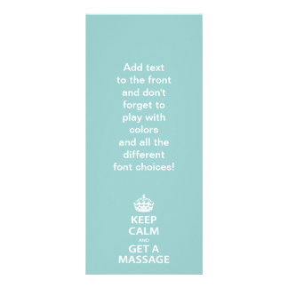 Keep Calm and Get a Massage Rack Card