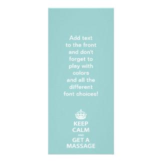 Keep Calm and Get a Massage Rack Card Template