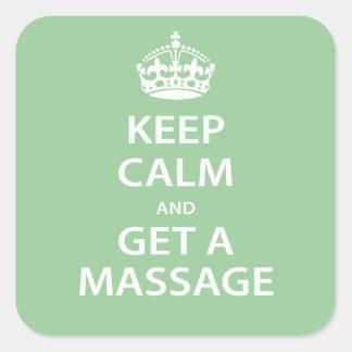 Keep Calm and Get a Massage Square Sticker