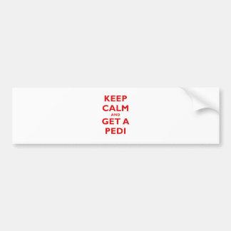 Keep Calm and Get a Pedi Bumper Sticker