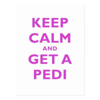 Keep Calm and Get a Pedi Postcard