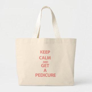 Keep Calm and Get A Pedicure Jumbo Tote Bag