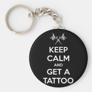 Keep calm and get a tattoo basic round button keychain