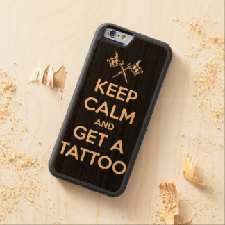 Keep calm and get a tattoo carved cherry iPhone 6 bumper case