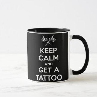 Keep calm and get a tattoo mug