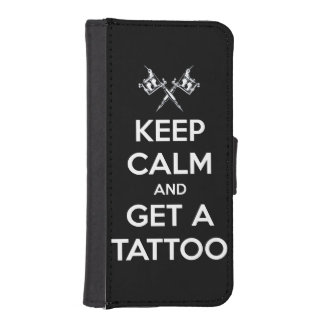Keep calm and get a tattoo phone wallet cases