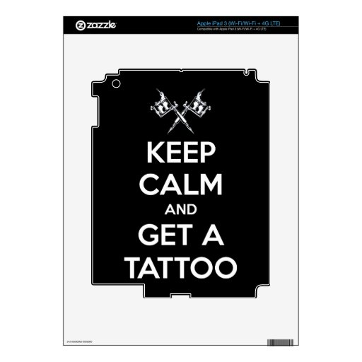 Keep calm and get a tattoo skins for iPad 3
