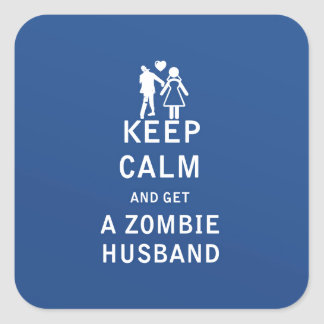 Keep Calm and Get a Zombie Husband Sticker