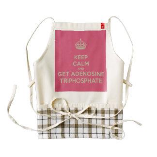 Keep Calm and Get Adenosine Triphosphate Zazzle HEART Apron
