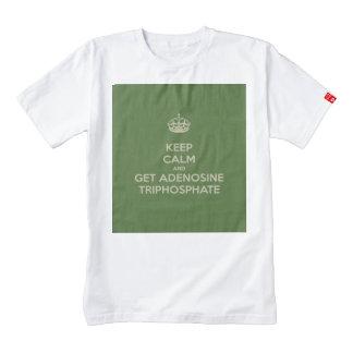 Keep Calm and Get Adenosine Triphosphate Zazzle HEART T-Shirt
