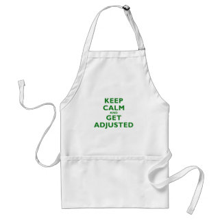 Keep Calm and Get Adjusted Adult Apron