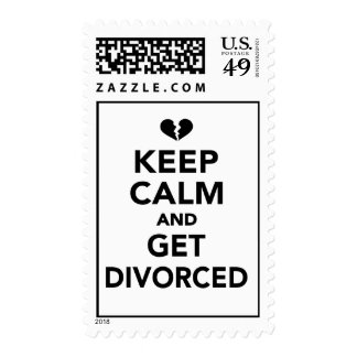 Keep calm and get divorced postage