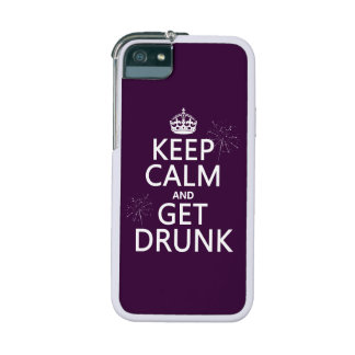 Keep Calm and Get Drunk (changable colors) iPhone 5 Cover