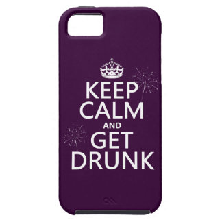 Keep Calm and Get Drunk (changable colors) iPhone 5 Covers