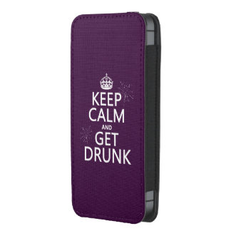 Keep Calm and Get Drunk (changable colors) iPhone 5 Pouch