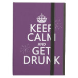 Keep Calm and Get Drunk (changable colors) iPad Folio Cases