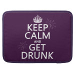 Keep Calm and Get Drunk (changable colors) Sleeves For MacBook Pro