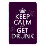 Keep Calm and Get Drunk (changable colors) Magnets