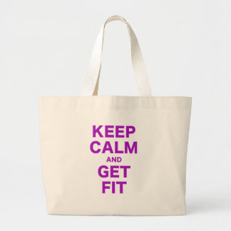 Keep Calm and Get Fit Canvas Bags
